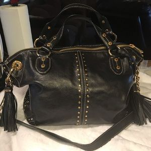 Michael Kors Large Astor Studded Chain Handbag